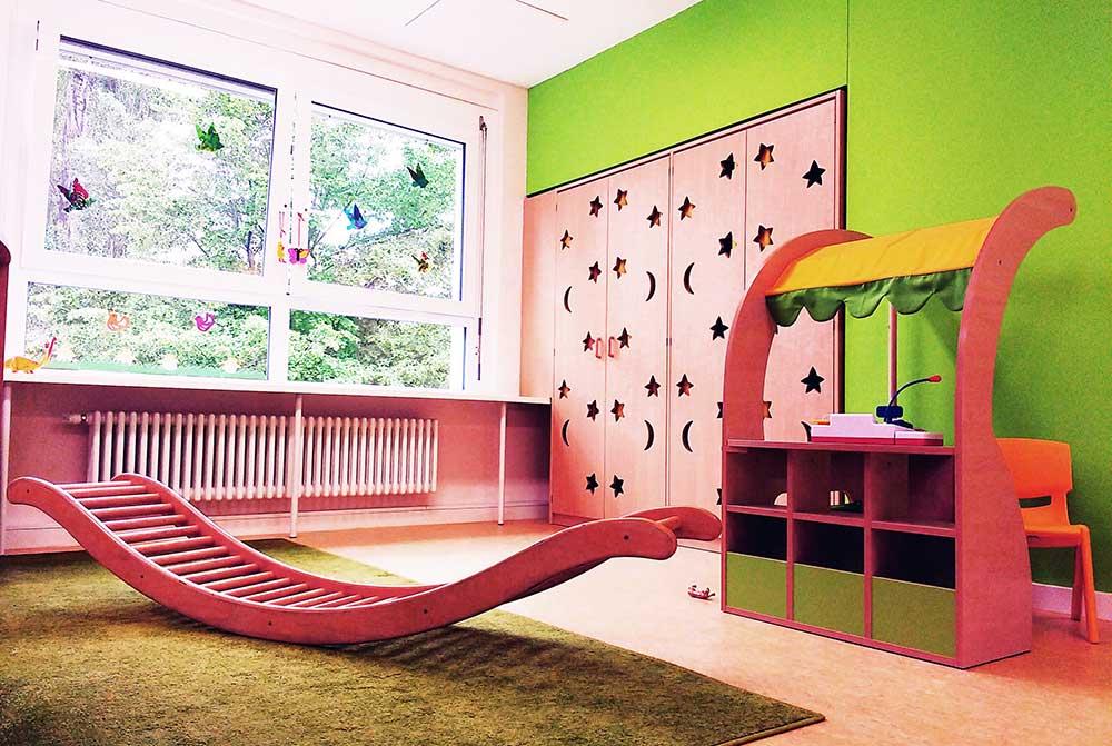 Innenausbau der Kindertagesstätte Notenhopser in Berlin- Marzahn